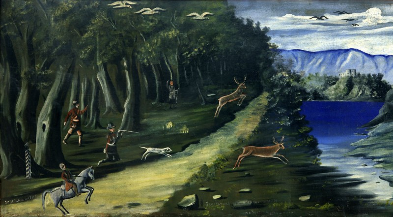 Hunting scene with a view of the Black Sea