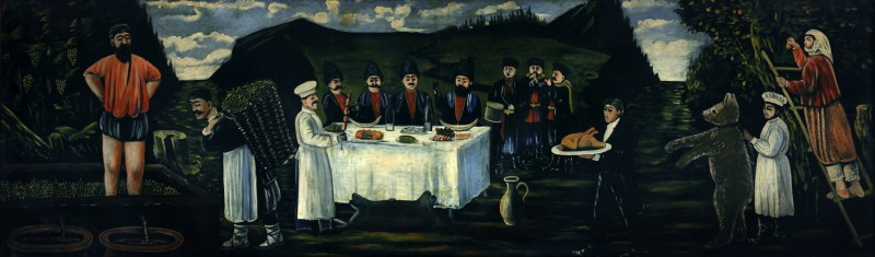The feast in vintage - Niko Pirosmani