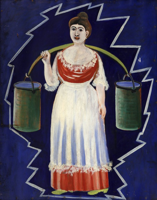 Woman with buckets - Niko Pirosmani