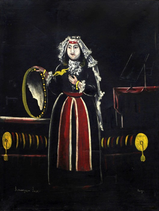 Georgian woman with tambourine - Niko Pirosmani