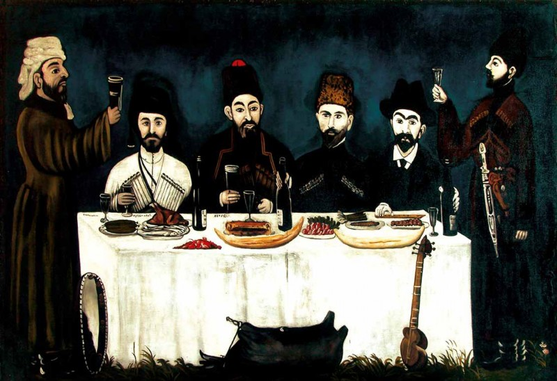 The feast of Kupreishvili family - Niko Pirosmani